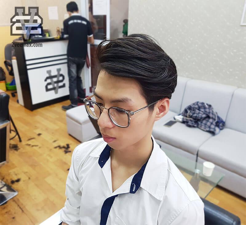kiểu tóc nam đẹp side part xu hướng 2018