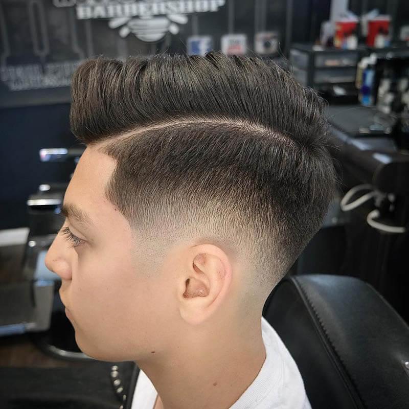những kiểu tóc nam dành cho học sinh, sinh viên 2018