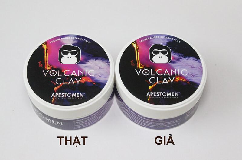phân biệt Volcanic Clay fake - Apestomen Volcanic Clay giả và thật
