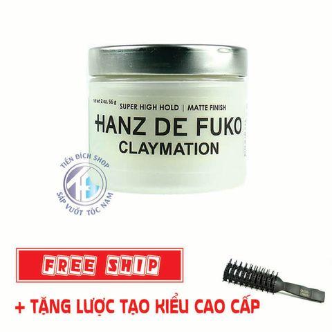 Sáp vuốt tóc Hanz De Fuko Claymation 56g hàng nhập khẩu USA