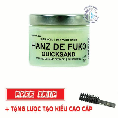Sáp vuốt tóc Hanz De Fuko Quicksand 56g hàng USA