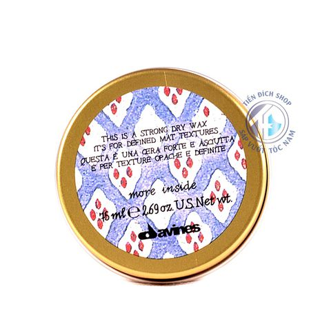 Sáp vuốt tóc Davines Strong Dry Wax 75ml hàng chính hãng tại Hà Nội
