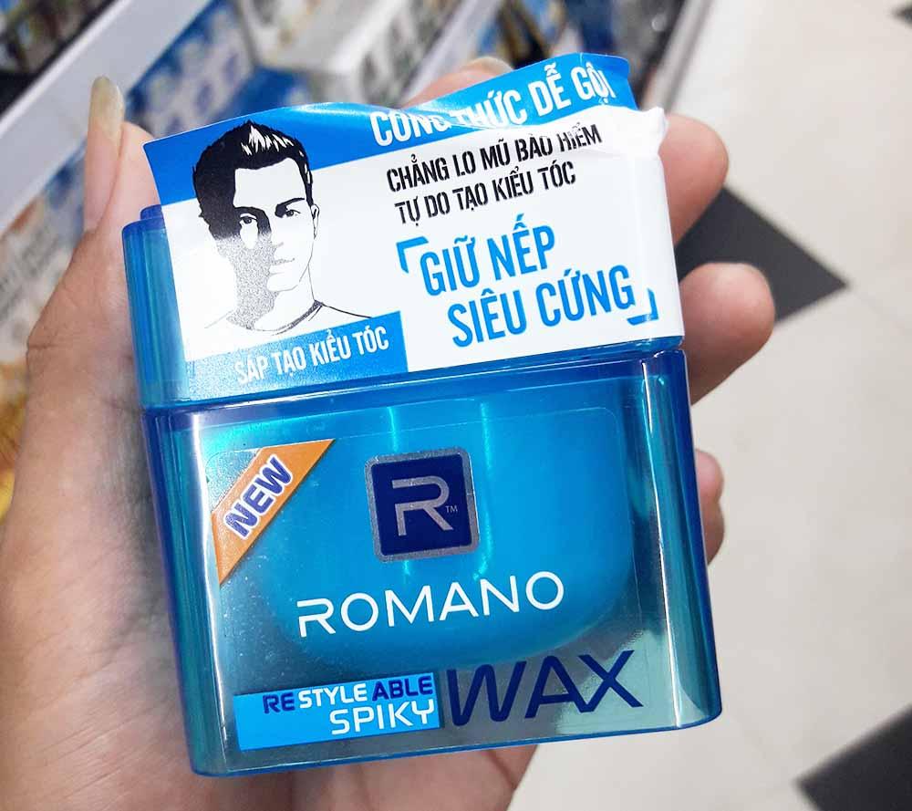 Sáp vuốt tóc Romano màu Xanh