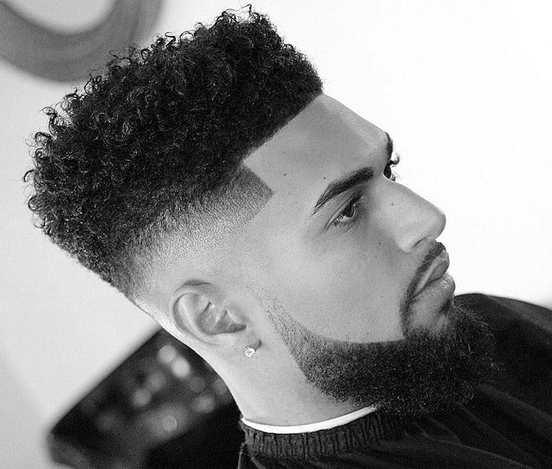 Kiểu tóc Fade cao + uốn xoăn