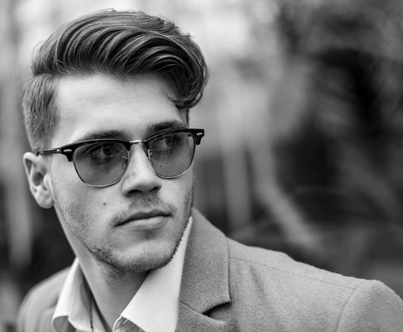 Kiểu tóc Side Part lượn sóng cho mái tóc nam trung bình