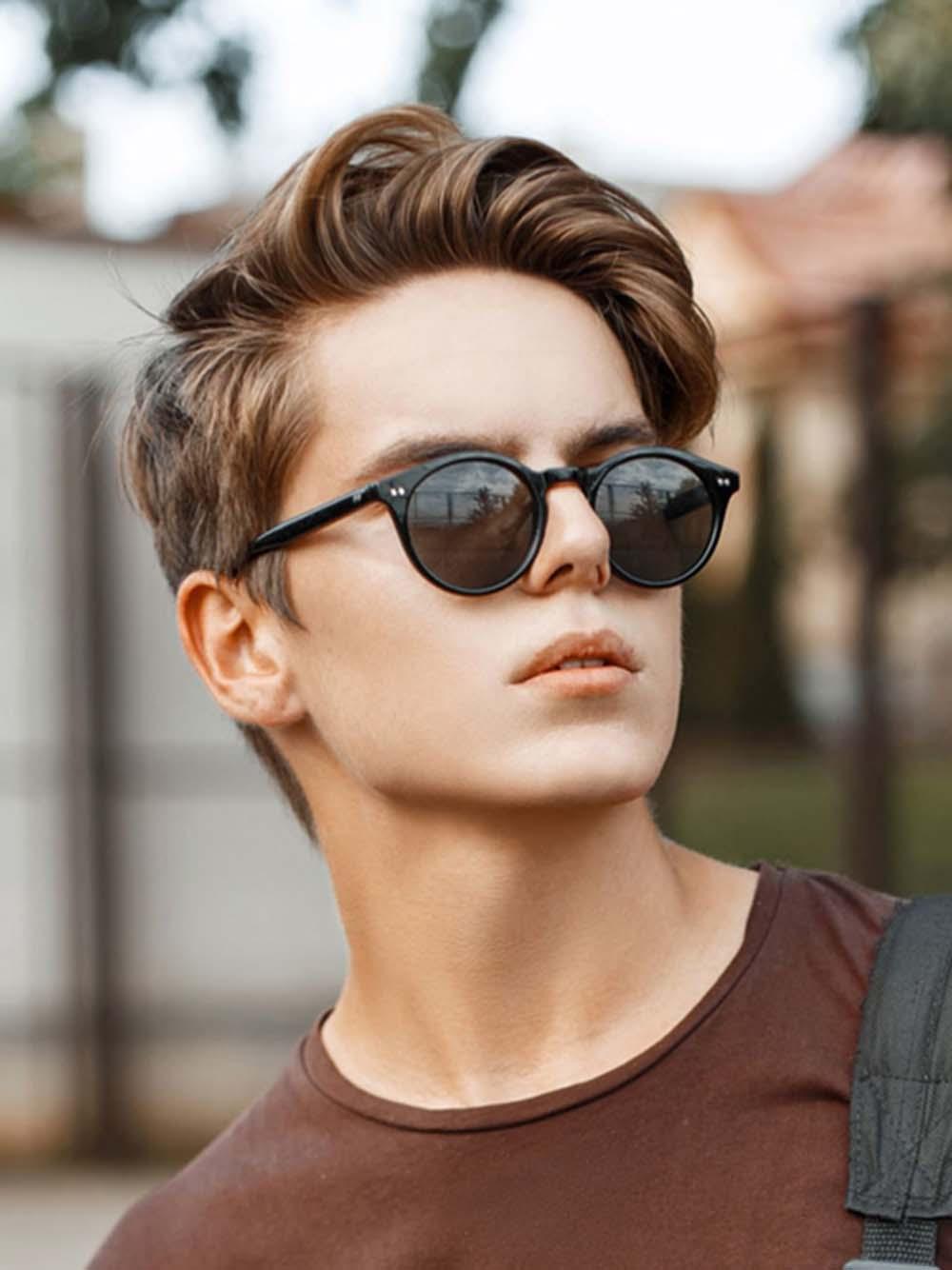 Kiểu tóc đẹp cho nam mặt tròn