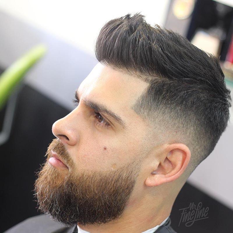 Kiểu tóc nam ngắn short quiff