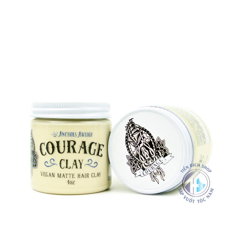 wax vuốt tóc chất lượng Courage Clay Pomade