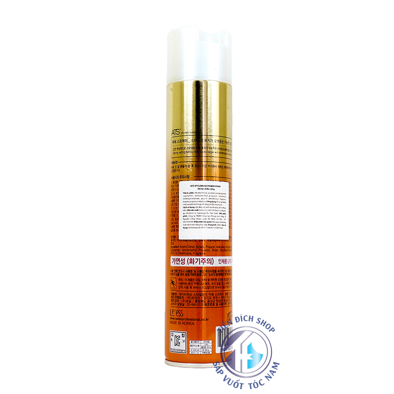 Gôm xịt tóc ATS Power Spray