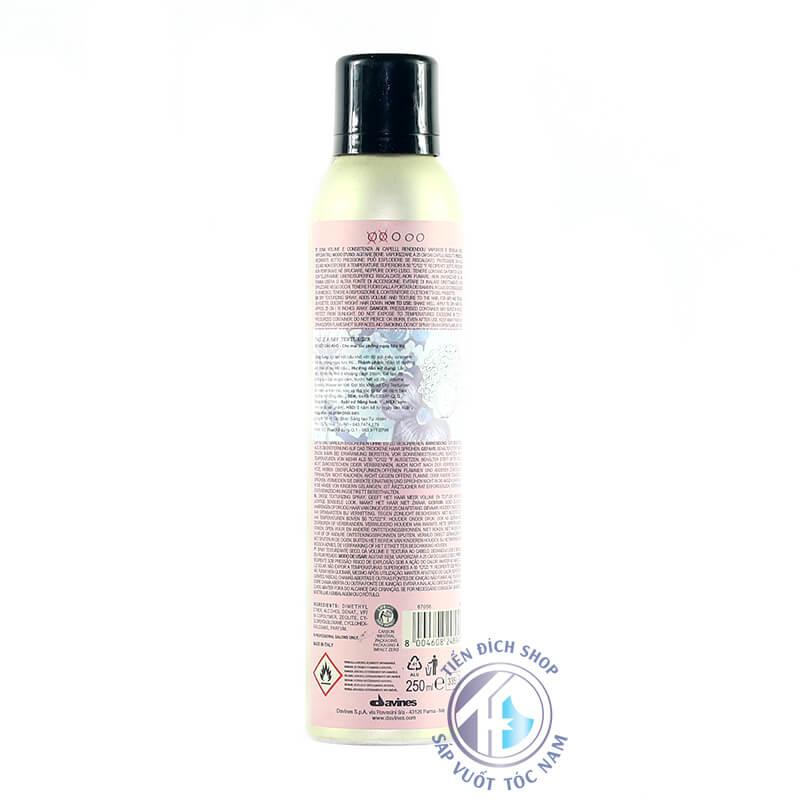 Gôm xịt tóc Davines Dry Texturizer Spray 250ml