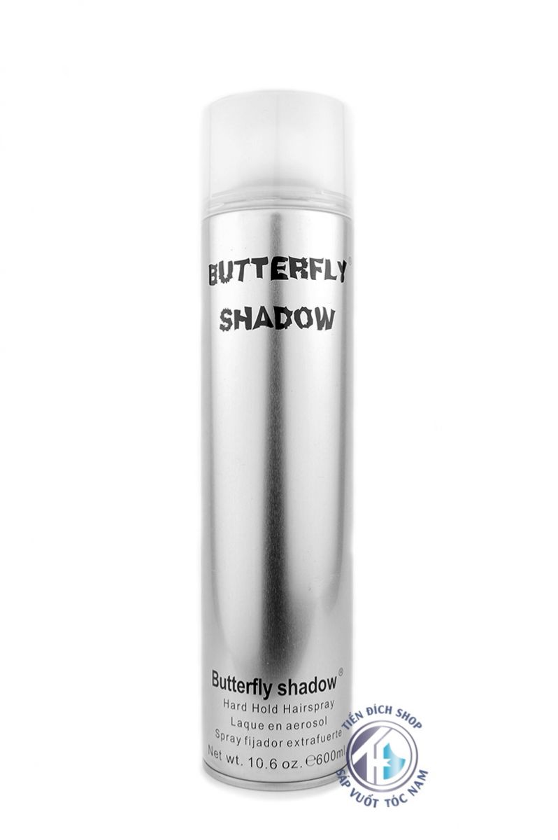 Gôm xịt tóc nam Butterfly Shadow 600ml