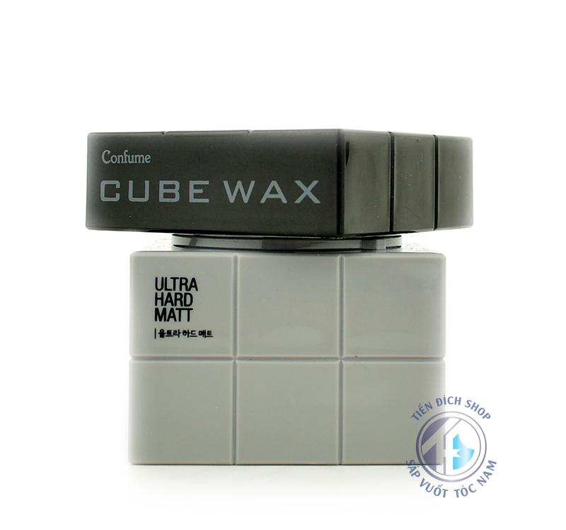 sáp vuốt tóc nam Cube Wax Ultra Hard Matt