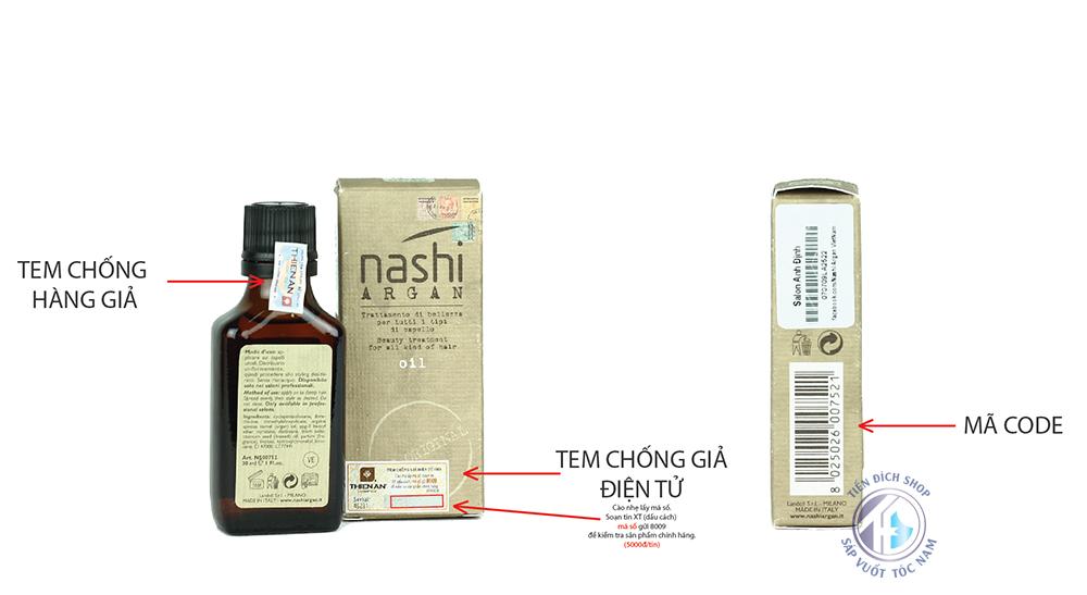 Tinh dầu dưỡng tóc chính hãng Nashi Argan 30ml chất lượng