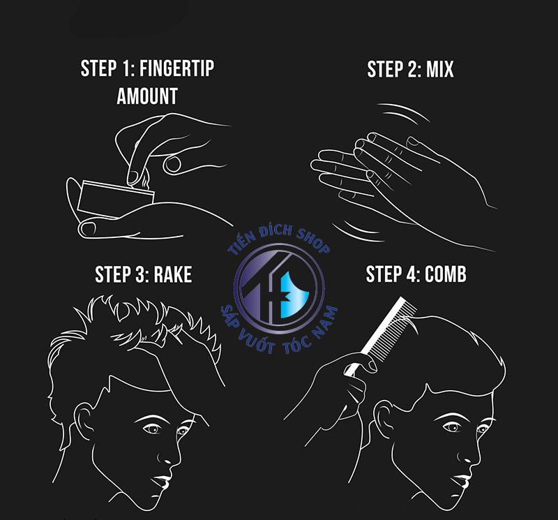 Cách sử dụng sáp vuốt tóc