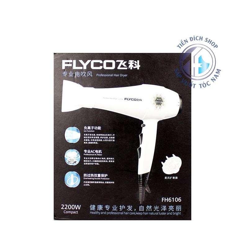 Máy sấy tóc công suất thực Flyco FH6106 2200W