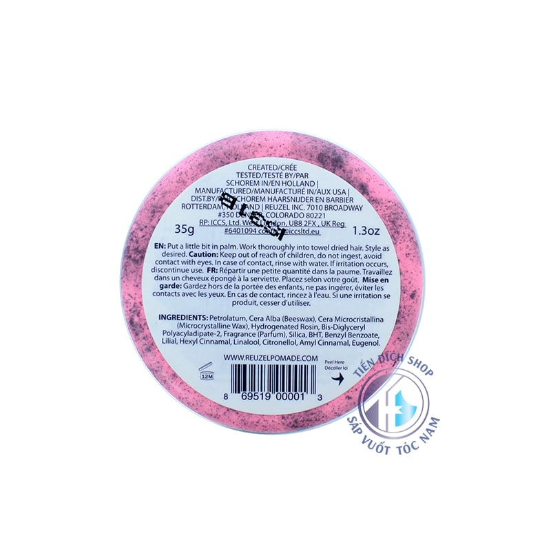 Pomade Reuzel Pink 35g
