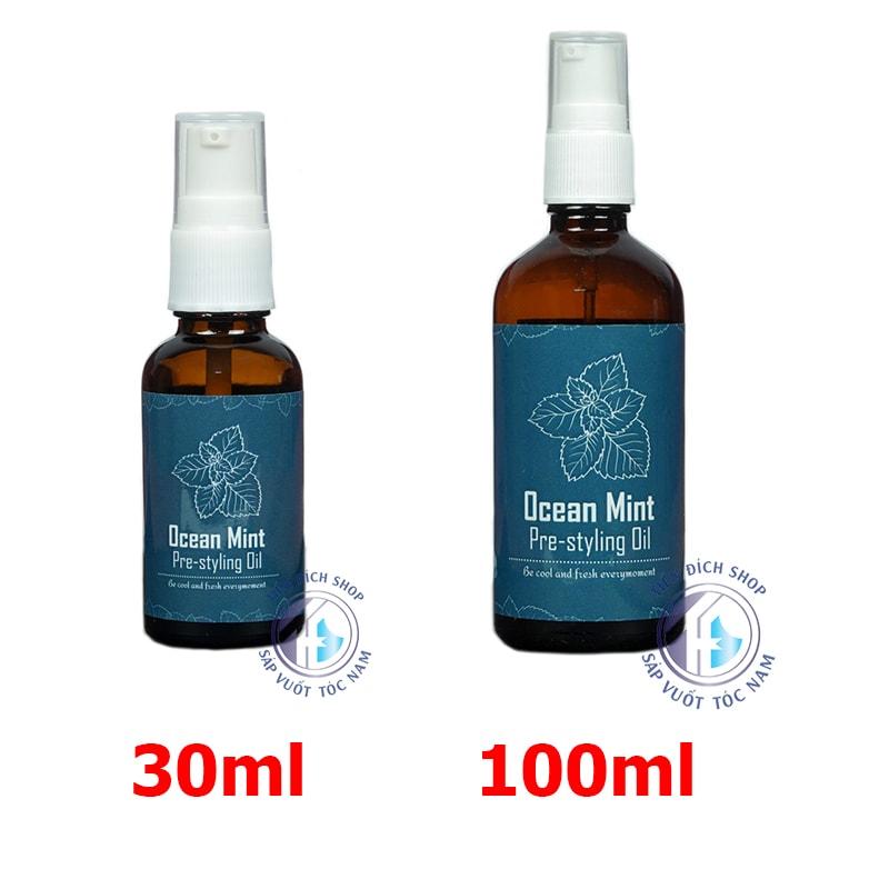 Xịt tạo phồng tóc Ocean Mint Pre Styling Oil