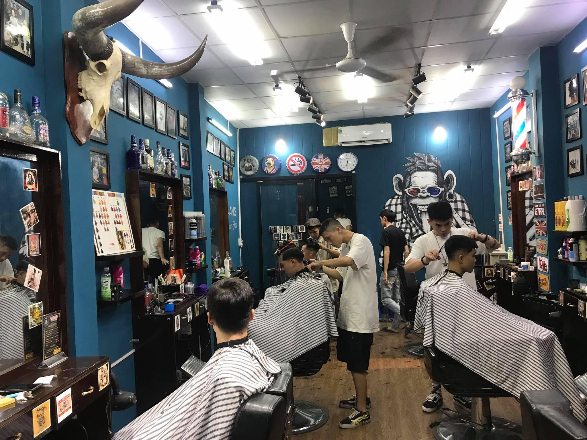 tiệm cắt tóc nam ở Hà Nội