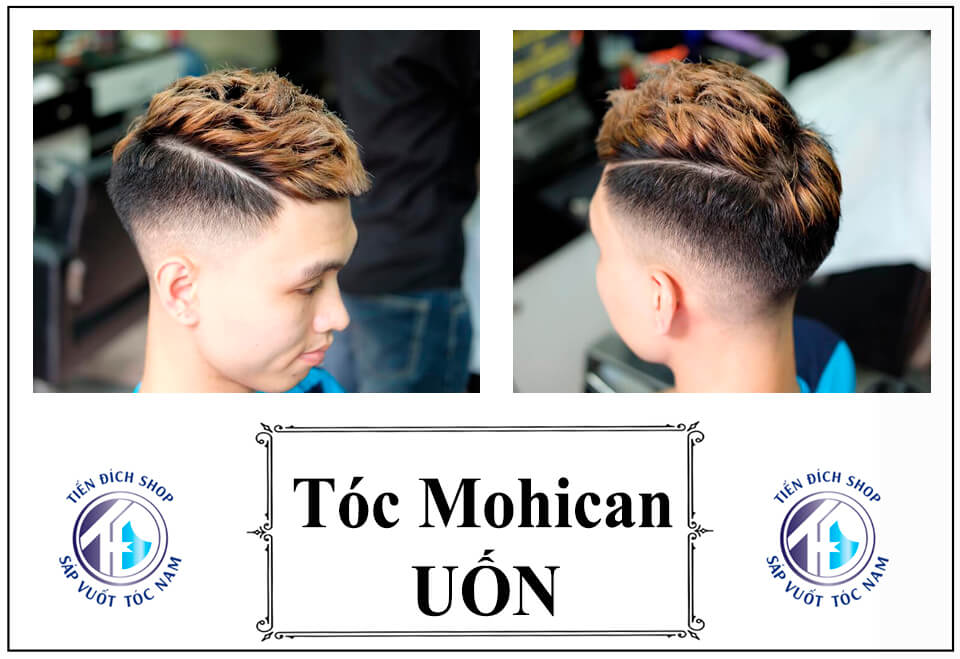 Kiểu tóc Mohican uốn