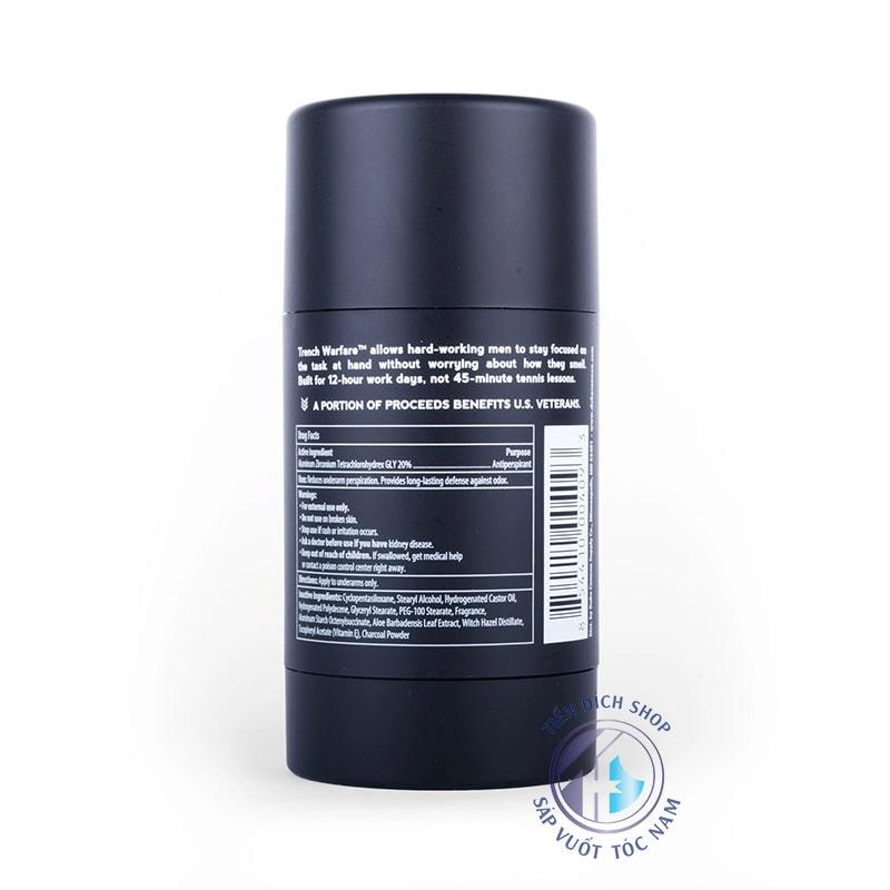 Lăn khử mùi Duke Cannon Antiperspirant Deodorant Trench Warfare Bergamot & Black Pepper
