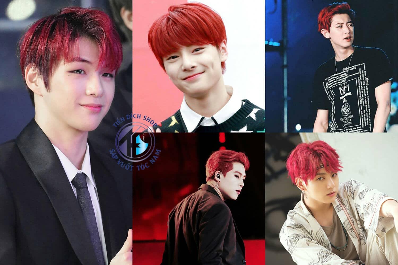 Nhuộm tóc nam Nâu Đỏ