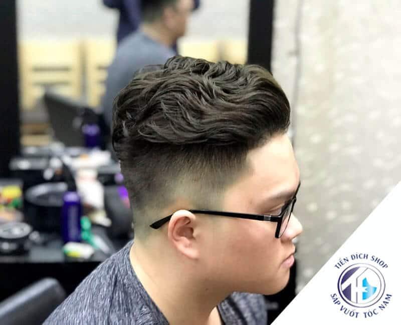 tóc nam uốn phồng