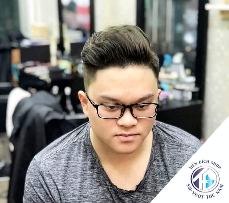 Tóc nam đẹp cho mặt tròn mập