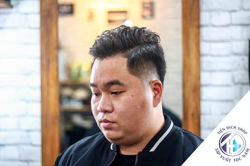 tóc nam cho mặt tròn béo