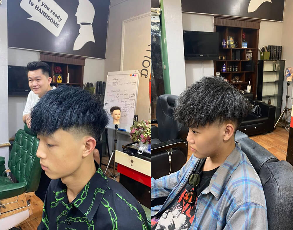Mohican uốn Textured
