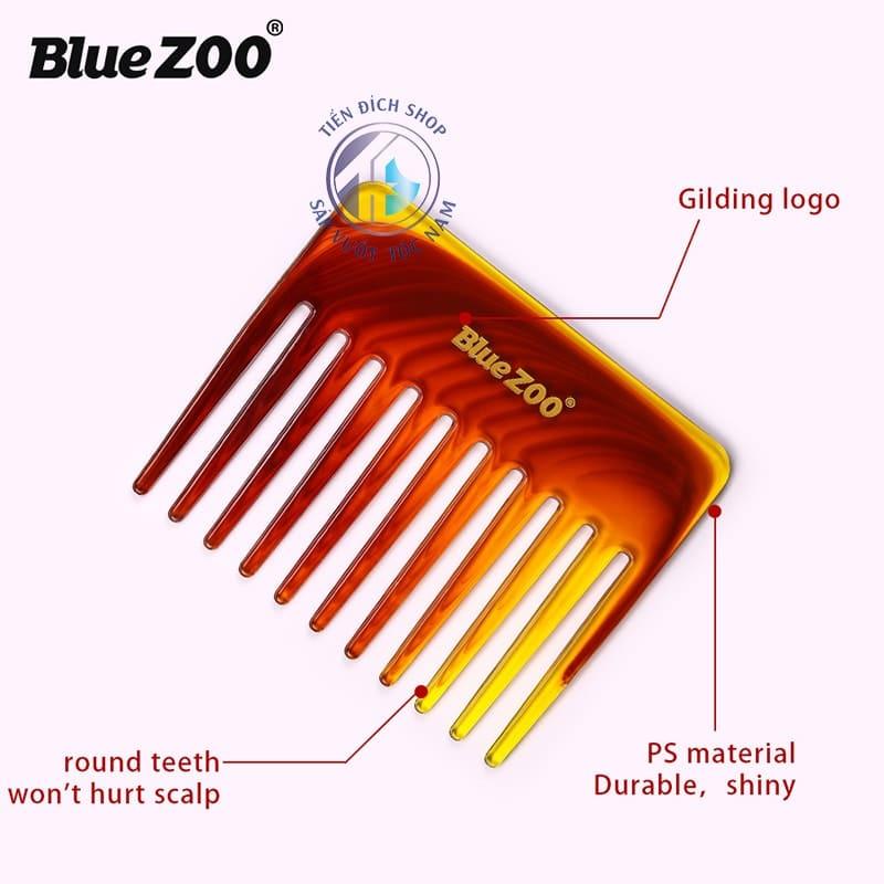 Lược chải răng thưa bỏ túi Blue Zoo