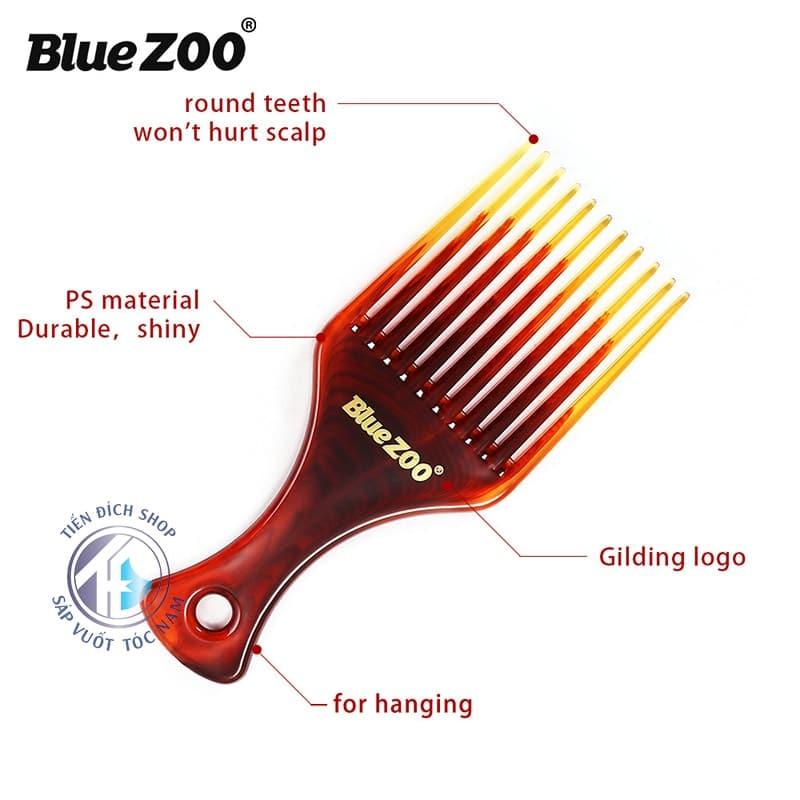Lược Afro Pick Blue Zoo