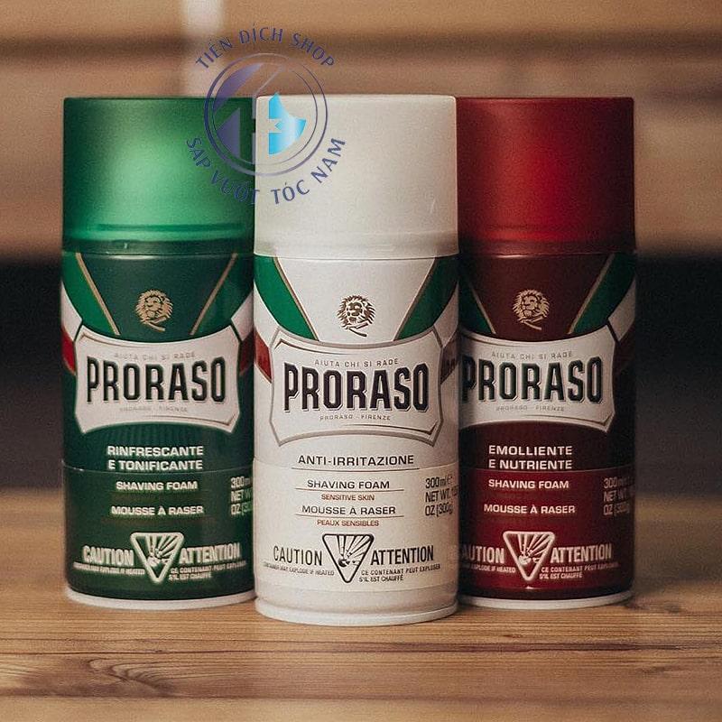 Bọt cạo râu Proraso Shaving Foam 300ml chính hãng Ý