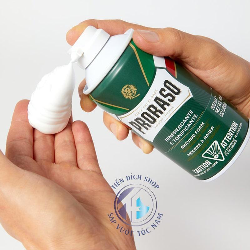 Bọt Cạo Râu Proraso Shaving Foam Refresh Eucalyptus (Green)